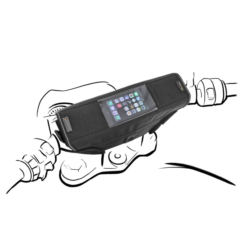 Motorbepakking mobiele houder
