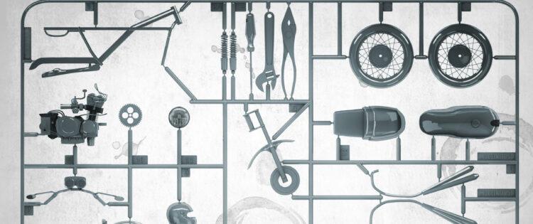 Motoronderdelen voor zelfbouw