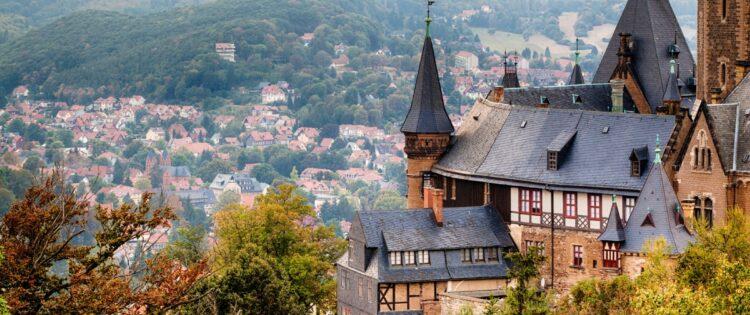 Kasteel in het hart van Harz, Duitsland