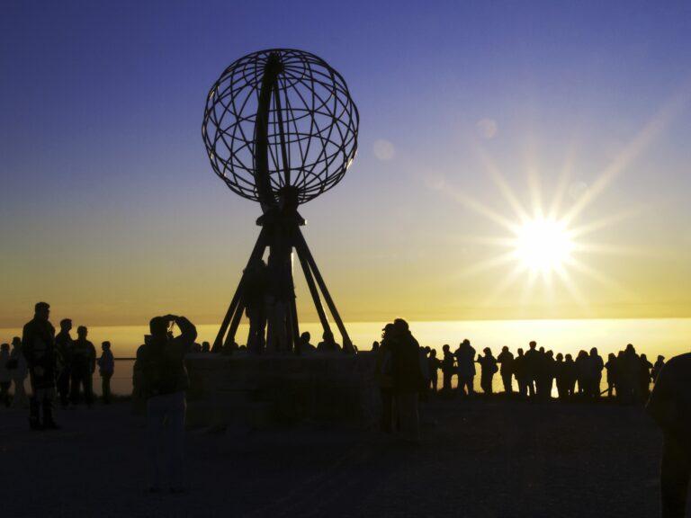 Zonsondergang op de Noordkaap