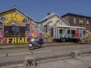Gerestaureerde Spoorzone Tilburg pauzeplek motorrijden